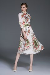 2387 Designer Inspired Pleaded Romantic Floral Print Twinset US2-US6