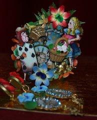 1996 Set Of Alice In Wonderland Cuff Plus Earrings
