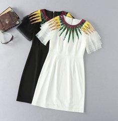 2052 Designer Inspired 2 Colors Sequin Mini Dress
