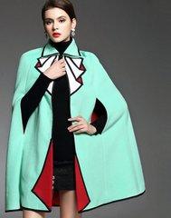 1192 Runway Designer Inspired Woolen Bolero Poncho