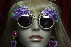 2747 Baroque Hydrangea 3D Effect Gold Filigree Baroque Sunglasses
