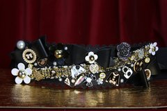 SOLD! 2080 Madam Coco Brooches Bow Embellished Waist Belt