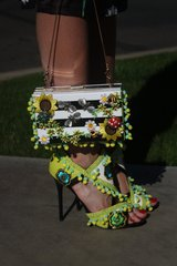 SOLD! 293 Spring 2015 Italy Collection Fancy Summer Embellished Clutch