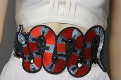 2078 Designer Inspired Massive Snake Applique Corset Waist Belt