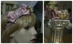 733  Fall 2016 Pink Crystal Bow Rhinestone Headband