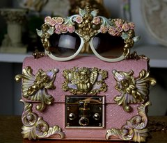 1216 Total Baroque Pale Pink Cherub Purse Handbag