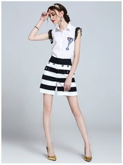 2544 Designer Cruise Collection Stripe Twinset