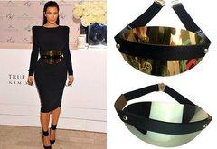 Designer Inspired Massive Gold Mirrow Waist Belt