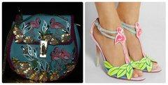 SOLD!194 Art Nouveau Flamingo Crystal Embellished Unique Purse Handbag