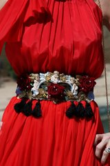 SOLD! 368 BELT Victorian Style Cameo Baroque Lace Belt M, L, XL