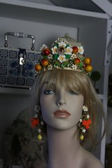 533 Spring 2016 Orange Flower Crown Tiara