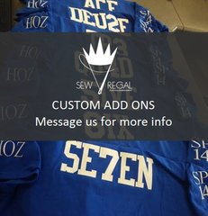 Add on Embroidered Crest to an order