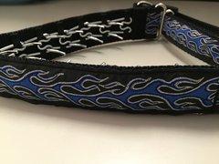 Blue Flames Power Steering Collar / Hidden pinch collar