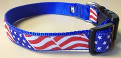 "1"" USA Flag Adjustable Flat Collar"