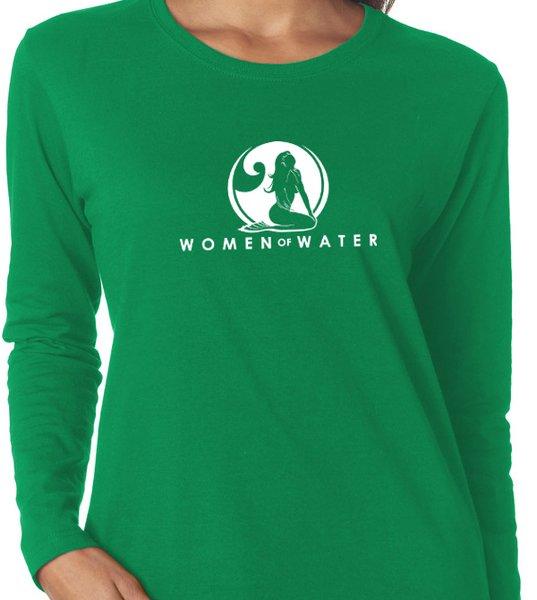 Mermaid Long Sleeve Crew Comfort Cotton Shirt