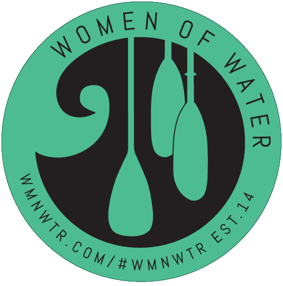 "Women Of Water 4"" Paddling Sticker"