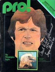 Dick Vermeil autograph 1979 Pro Magazine, Eagles, RARE