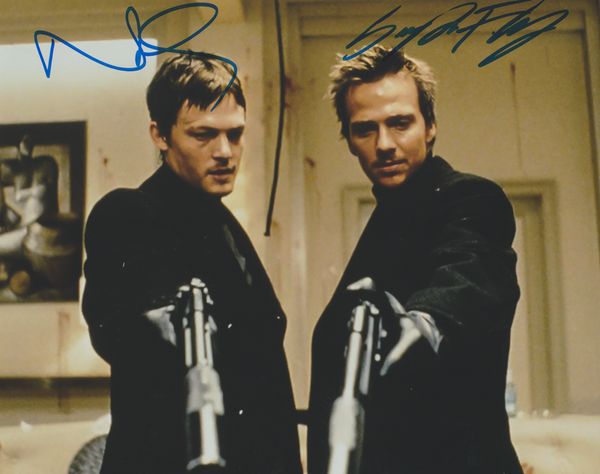 Norman Reedus and Sean Patrick Flanery autograph Boondock Saints 8x10