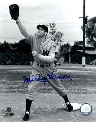 Mickey Vernon autograph 8x10, Washington Senators