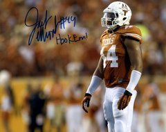 Jackson Jeffcoat, autographed 8x10, The University of Texas, Hook Em inscription
