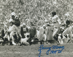 Autograph Lenny Moore 8x10, Baltimore Colts, Inscription: HOF 75