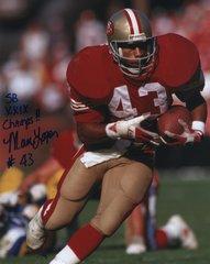 Marc Logan autograph 8x10, San Francisco 49ers, SB Champs