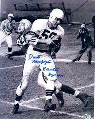 Dante Lavelli Goldfinger autograph 8x10, Cleveland Brown, HOF 1975