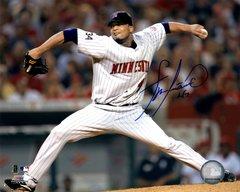 Francisco Liriano autograph 8x10, Minnesota Twins
