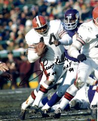 Leroy Kelly autographed 8x10, Cleveland Browns, HOF 94