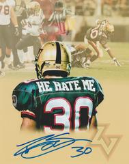 """Rod Smart autograph 8x10, XFL. """"He Hate Me"""" (custom photo)"""