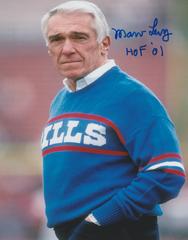 Marv Levy auto 8x10, Buffalo Bills, HOF