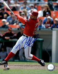 Nick Johnson, autographed 8x10, Washington Nationals