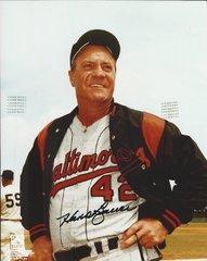 Hank Bauer autograph 8x10, Baltimore Orioles