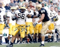 LaMarr Woodley autograph 8x10, Michigan, Current Steelers