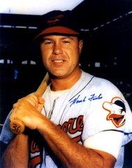 Hank Foiles autograph 8x10, Baltimore Orioles