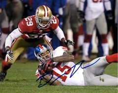 Devin Thomas autograph 8x10, New York Giants