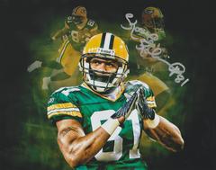 Koren Robinson autograph custom 8x10, Green Bay Packers
