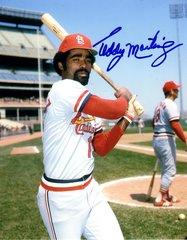 Ted Martinez autograph 8x10, St Louis Cardinals