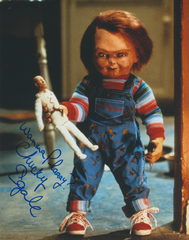 Ed Gale autograph 8x10 movie Child's Play with 2 inscriptions