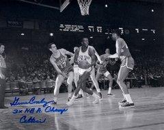 Gene Conley, autographed 8x10, Boston Celtics, 3x NBA Champs inscription