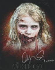 Addy Miller autograph 8x10, The Walking Dead, Summer