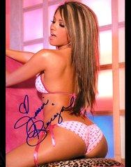 Jessica Burciaga, autographed 8x10