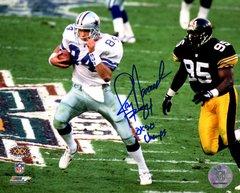Jay Novacek autograph 8x10, Dallas Cowboys, 3x SB Champs