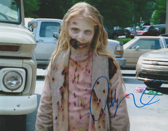 Addy Miller autograph 8x10, The Walking Dead, 1st zombie