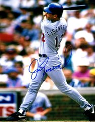 Jim Eisenreich autograph 8x10, Los Angeles