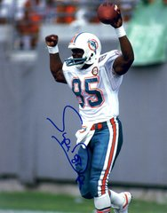 Mark Duper autograph 8x10, Miami Dolphins