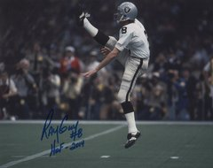 Ray Guy autographed 8x10, Oakland Raiders inscription HOF