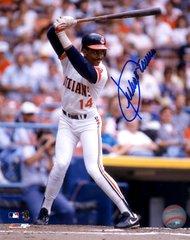 Julio Franco autograph 8x10, Cleveland Indians