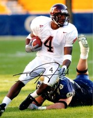DeAngelo Hall autographed 8x10, Virginia Tech
