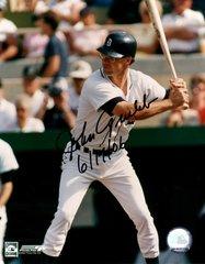 Johnny Grubb, autographed 8x10, Detroit Tigers, 6/17/2006 inscription